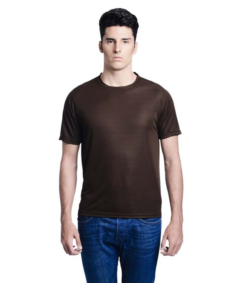 Lime Brown Round T Shirts