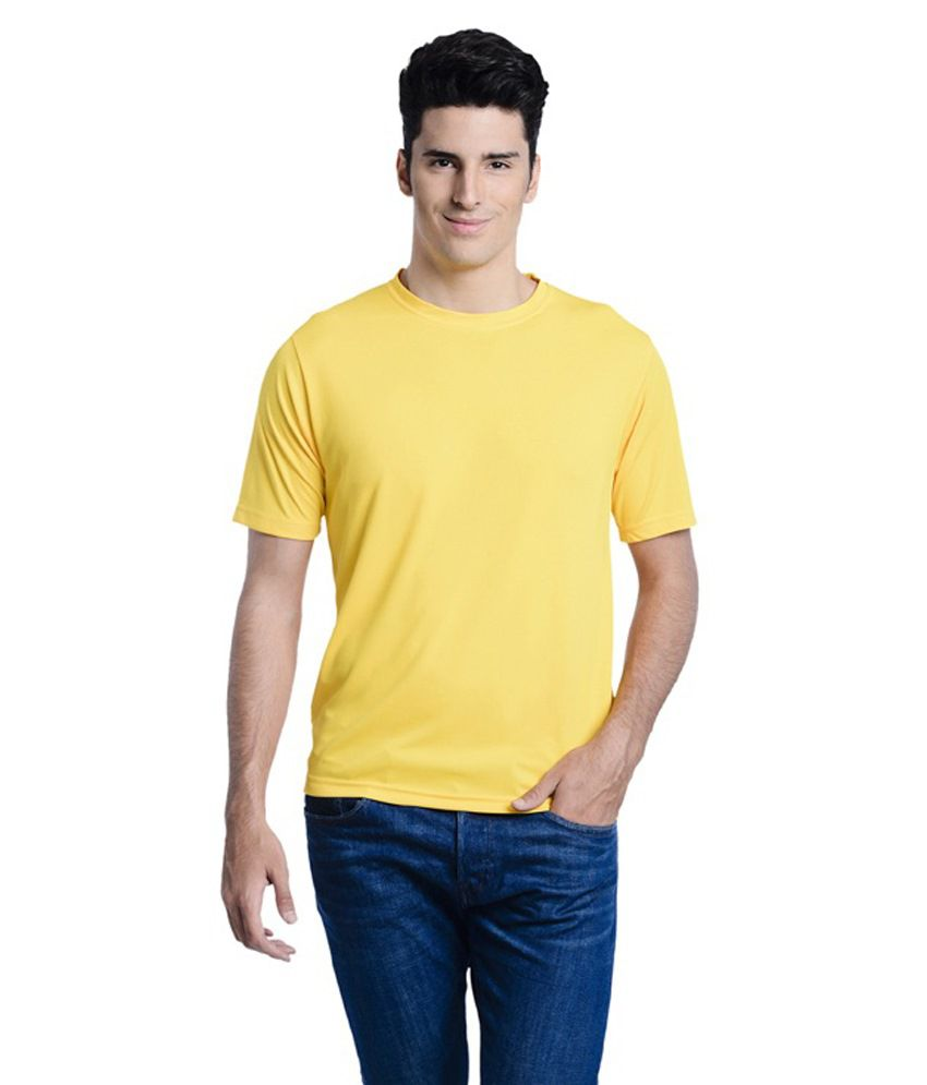 Lime Yellow Round T Shirts