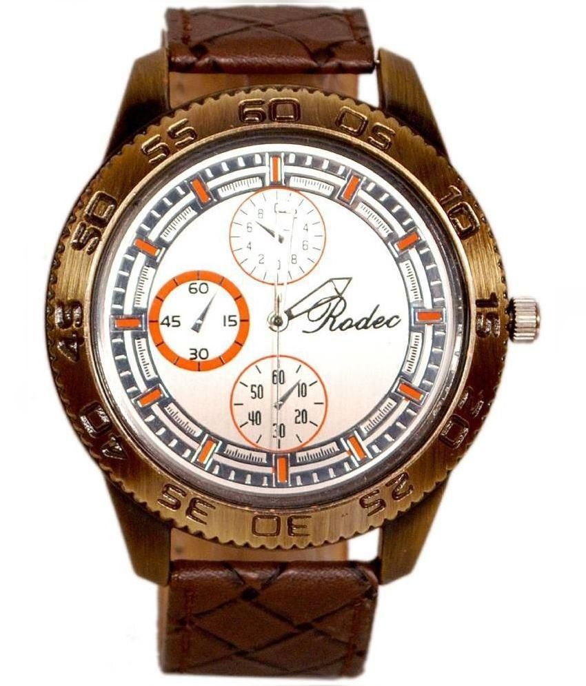 Rodec Brown Analog Watch