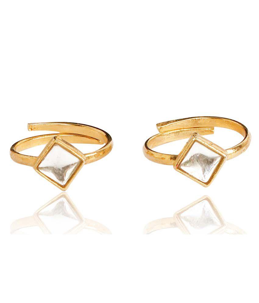Touchstone Shimmer Pair of Toe Rings