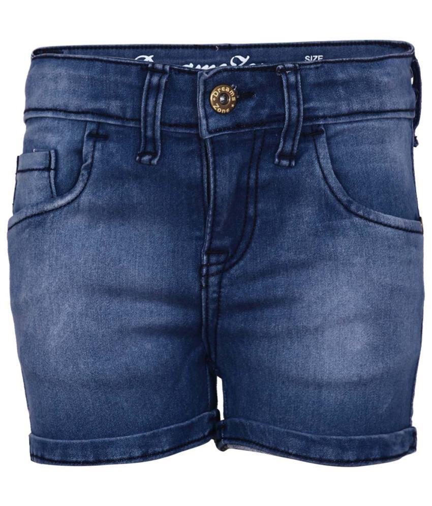 Dreamszone Blue Cotton Blend Shorts