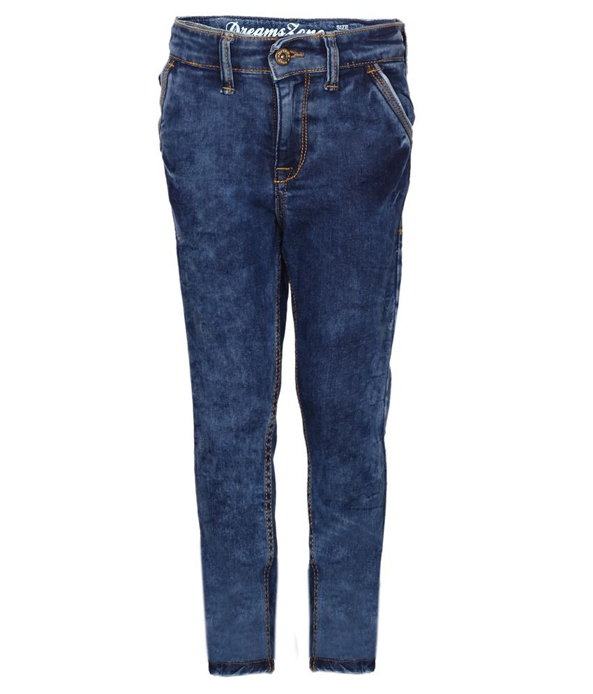 Dreamszone Blue Slim Fit Jeans for Boys - Buy Dreamszone ...
