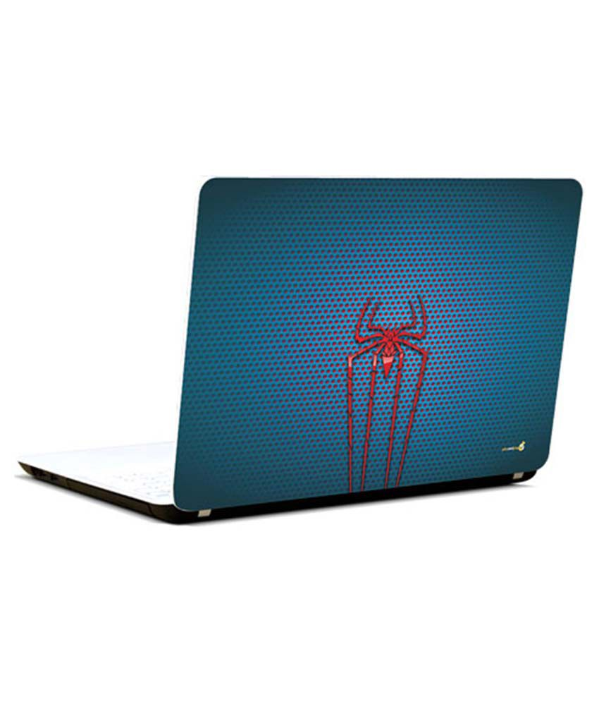 Pics And You Pics And You Superman Logo On Laptop Skin Blue