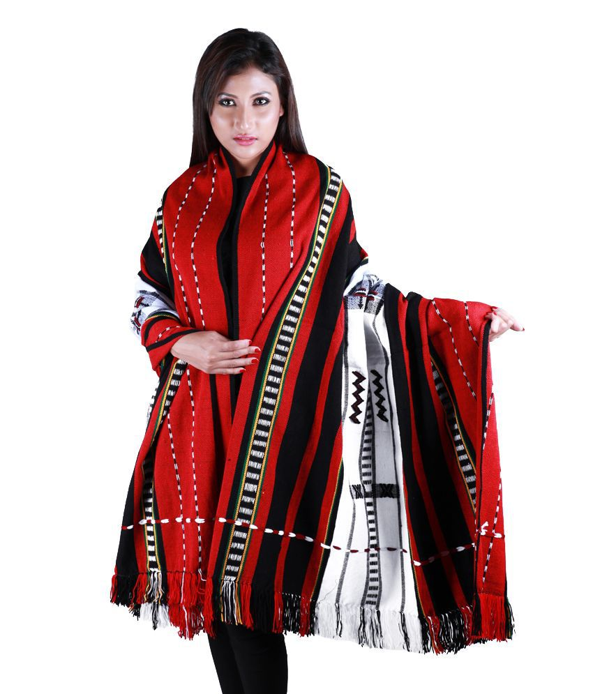 A & M Multi Color Woollen Assam Tant Shawls Price in India - Buy A & M  Multi Color Woollen Assam Tant Shawls Online at Snapdeal