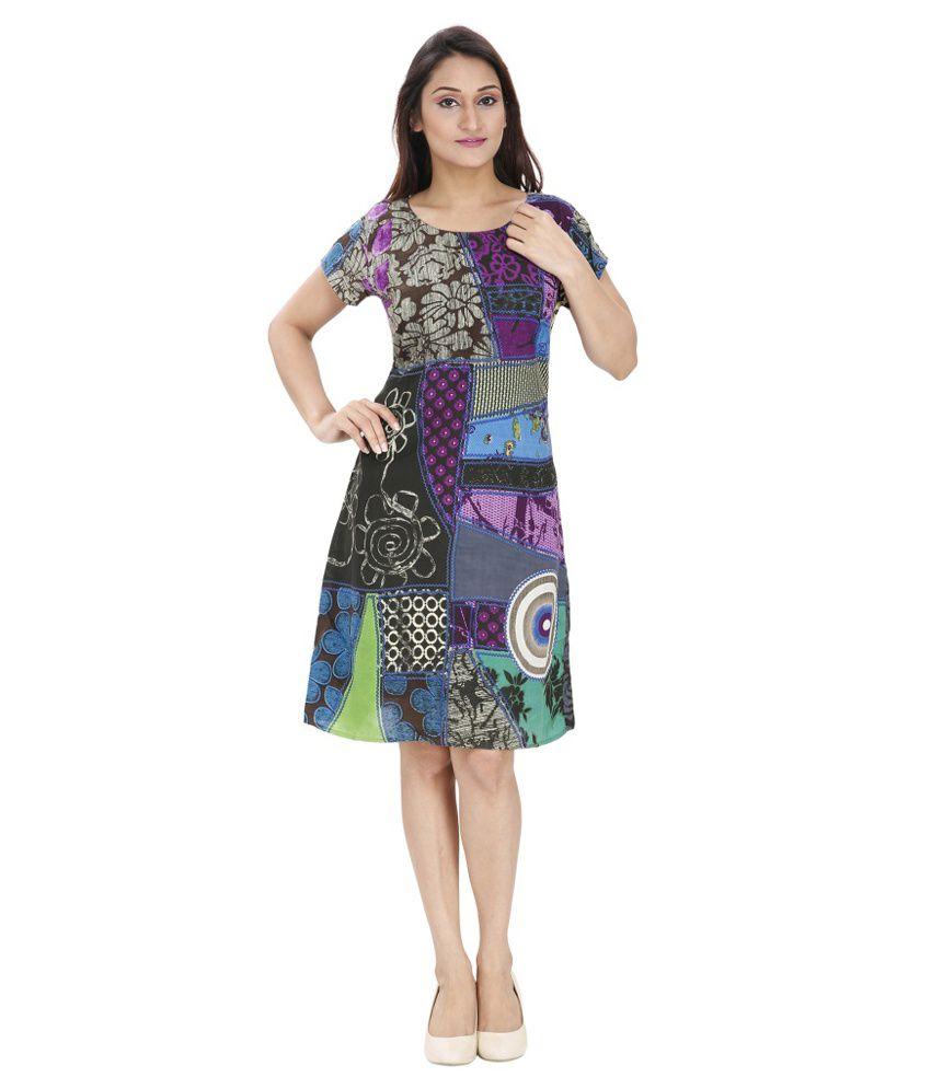 Svt Ada Collections Multi Color Cotton Dresses