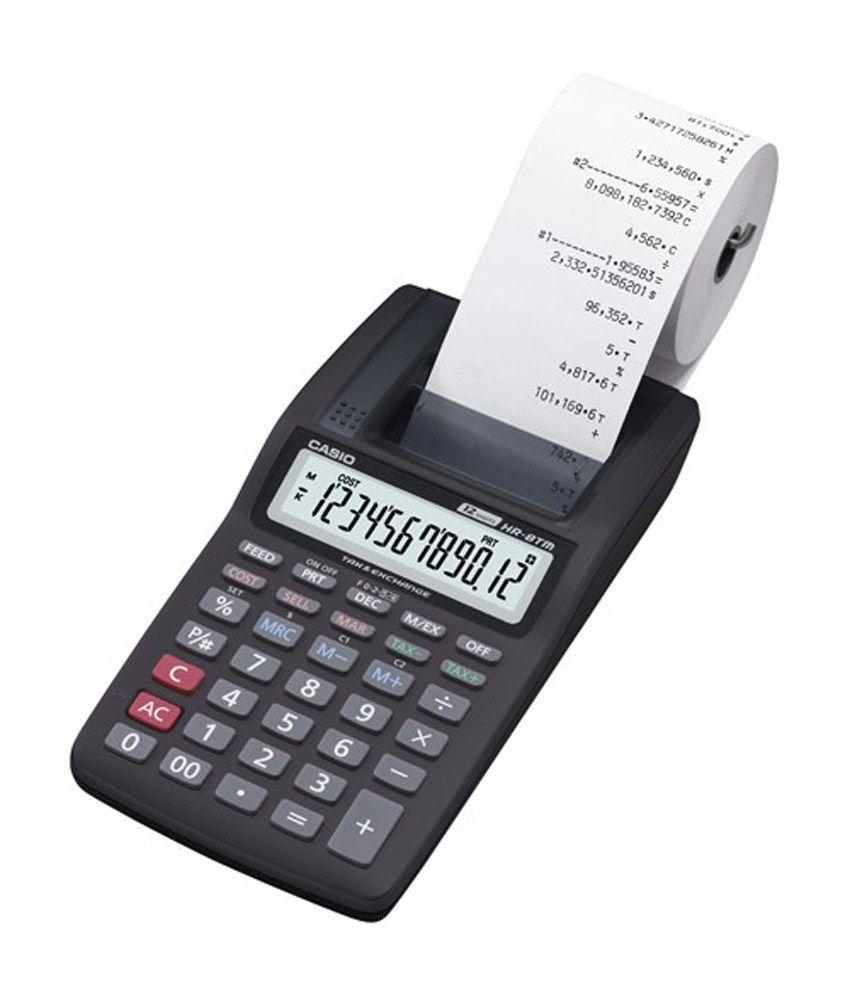 Color printout price in delhi - Casio Mini Printer Calculator Hr 8tm