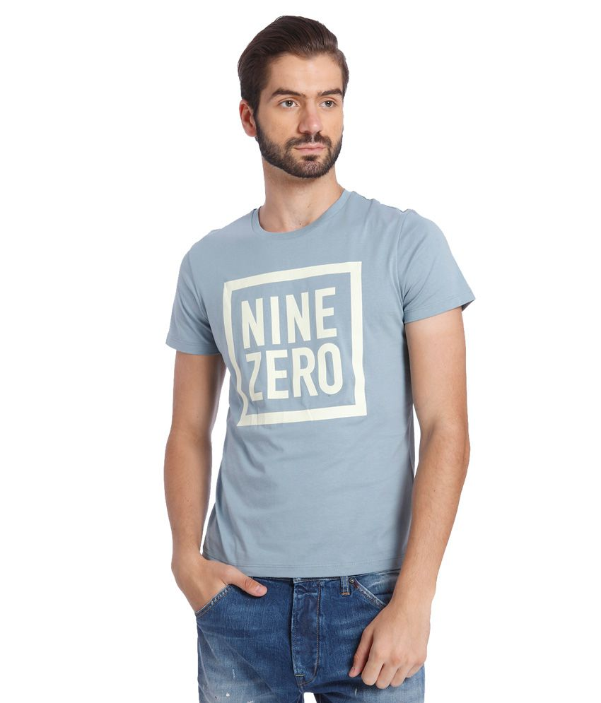 Jack & Jones Blue Round Neck T Shirt