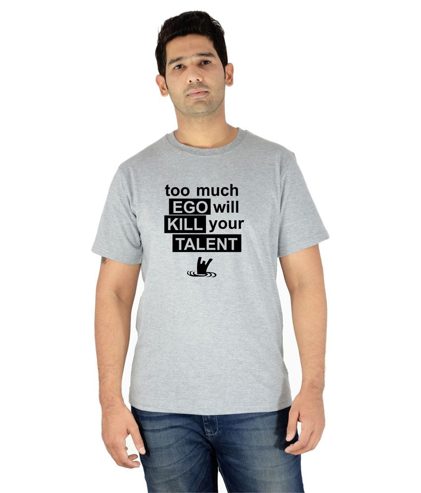 Komnil Grey Round T Shirts