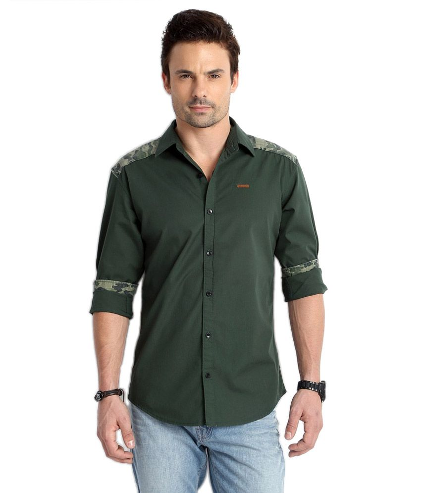 e21e0ac2e9 GAS SLIM FIT CASUAL SHIRTS price at Flipkart, Snapdeal, Ebay, Amazon ...