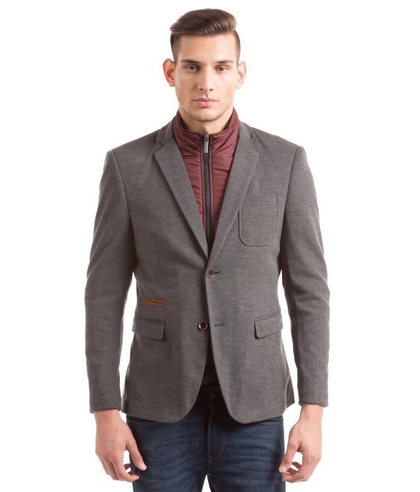 Shuffle Grey Casual Blazers