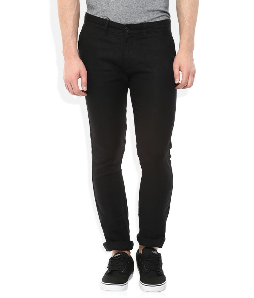 Celio Black Regular Fit Trousers