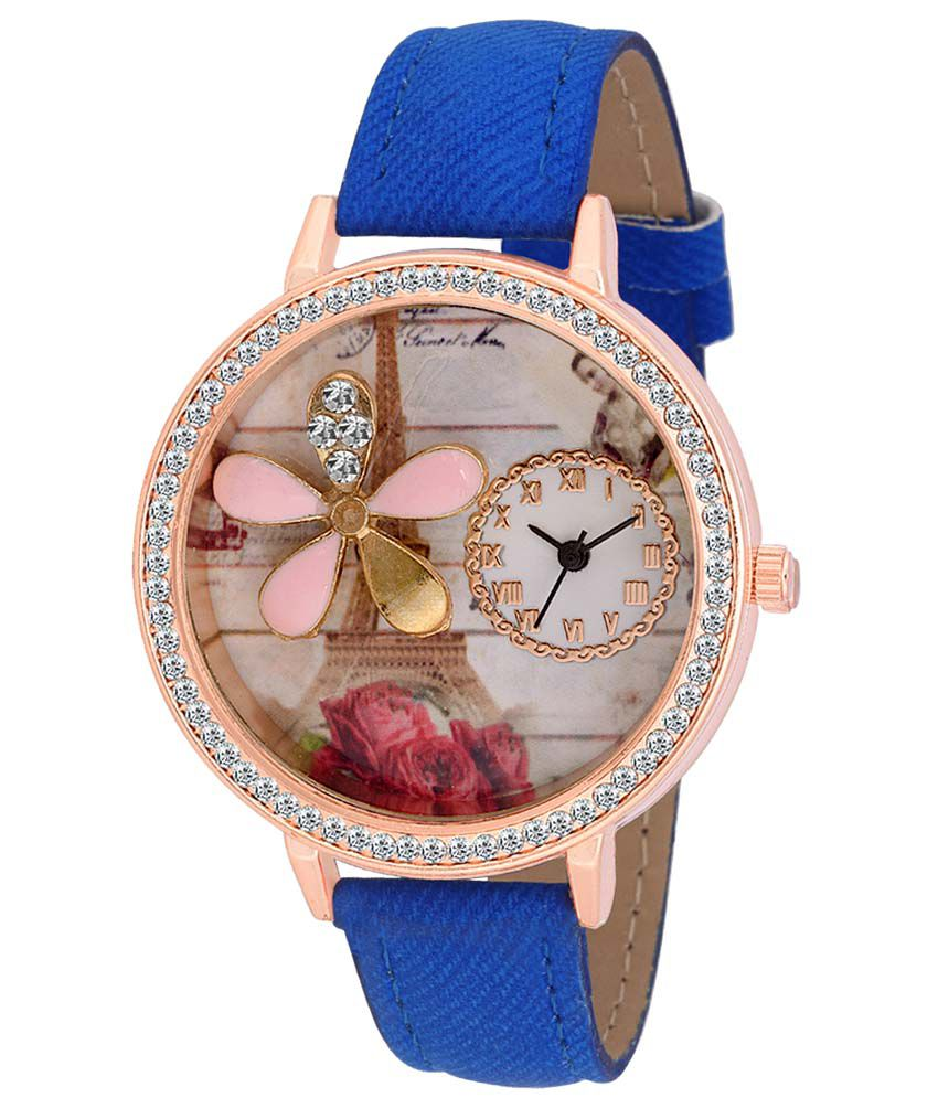 Fimex Blue Analog Watch For Women