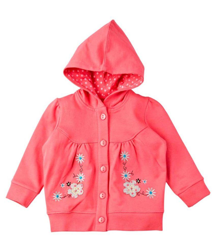 Mom & Me Pink Cotton Sweatshirt With Hood