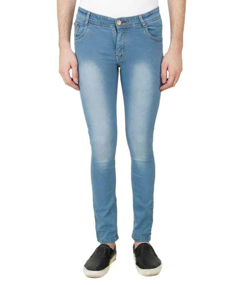 Pazel Blue Skinny Fit Faded Jeans Pack of 2