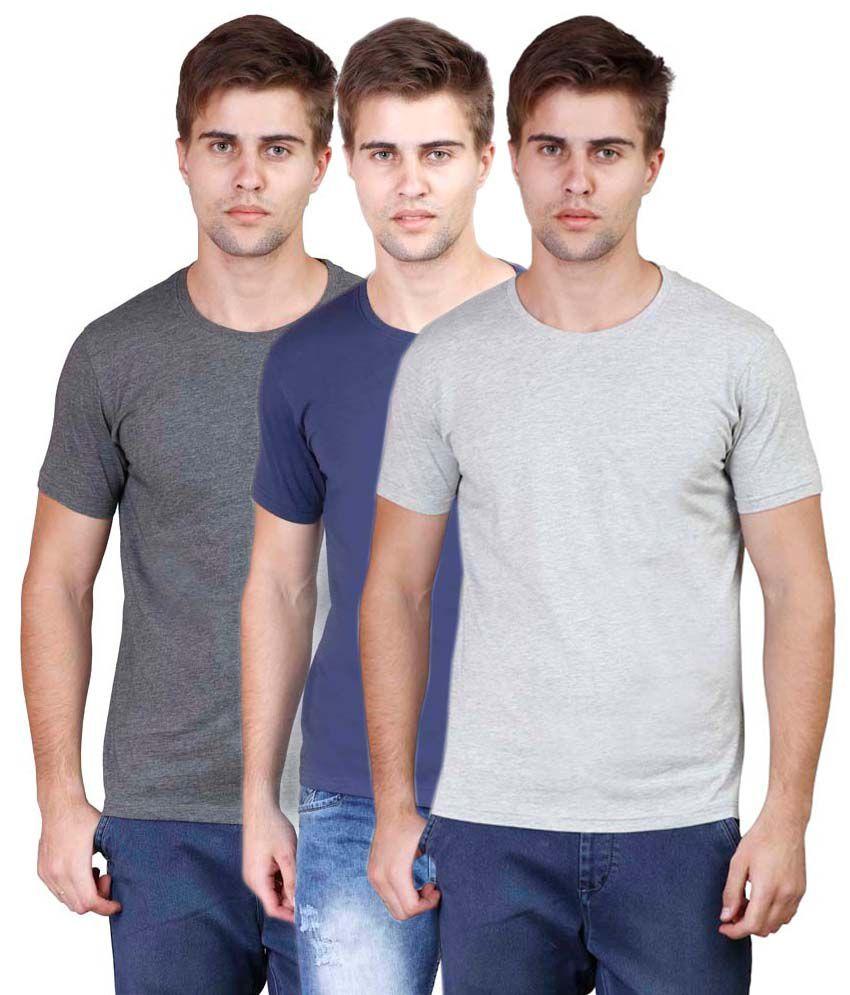 Righardi Multi Round T Shirts Pack of 3