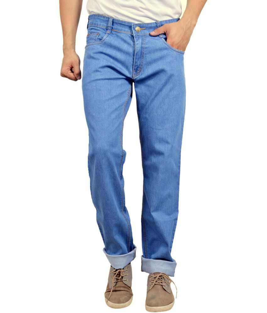 Falkon Fashion Blue Slim Fit Solid Jeans Pack of 2