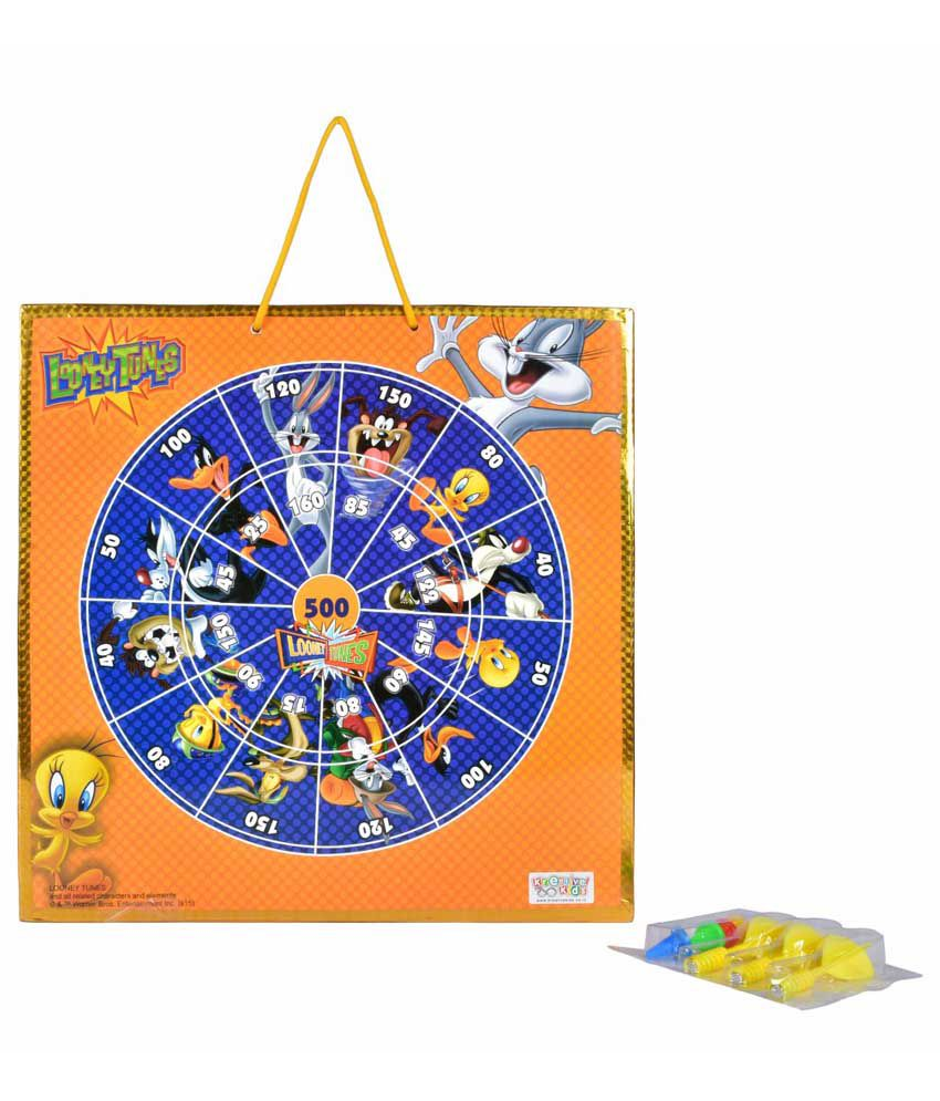Kreative Kids Looney Tunes Magnetic Dart Board with Snake and Ladders Game