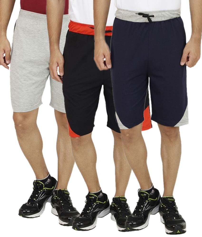 Candy House Multi Shorts Pack of 3