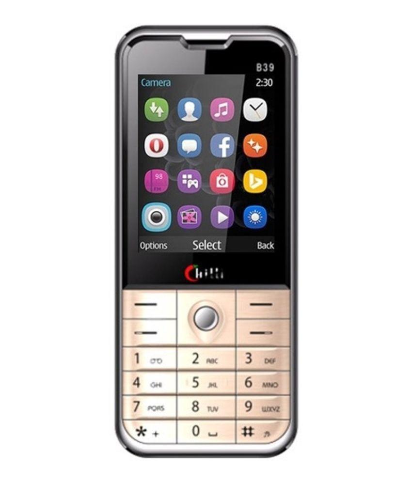 Chilli B39 Dual Sim GSM Mobile Phone - Gold