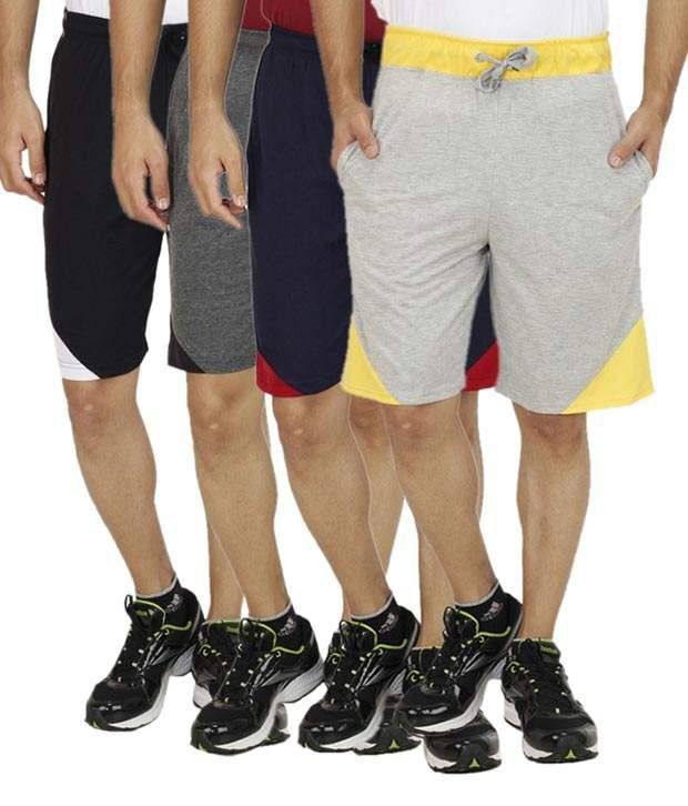 Rakshita Collection Multi Shorts Pack Of 4