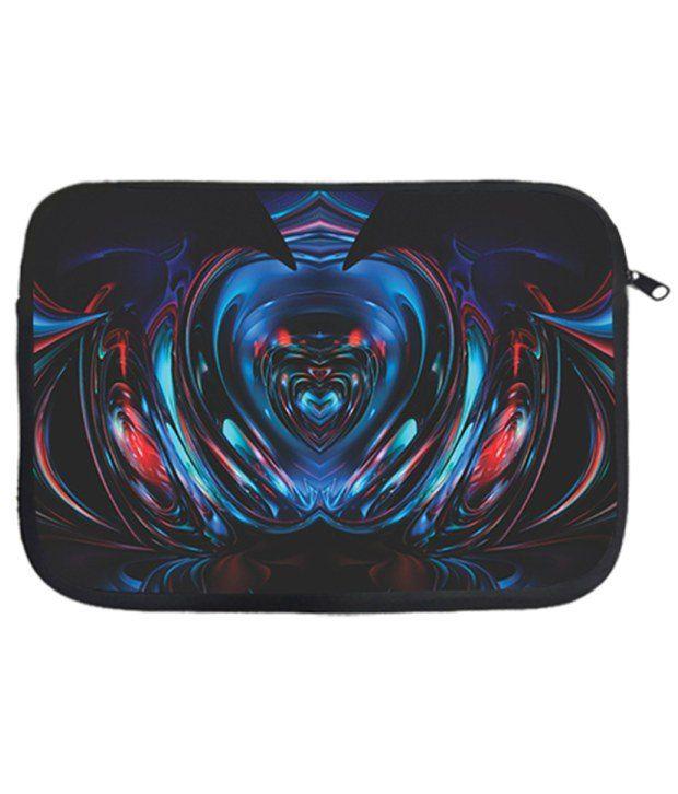 Via Flowers MulticolourPolyester Laptop Sleeve - 33.02 cm