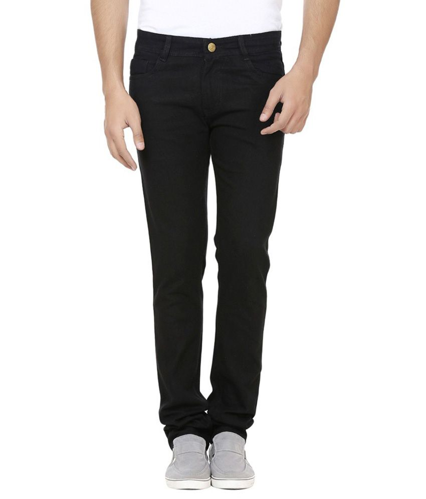 Ansh Fashion Wear Black Slim Fit Solid Jeans