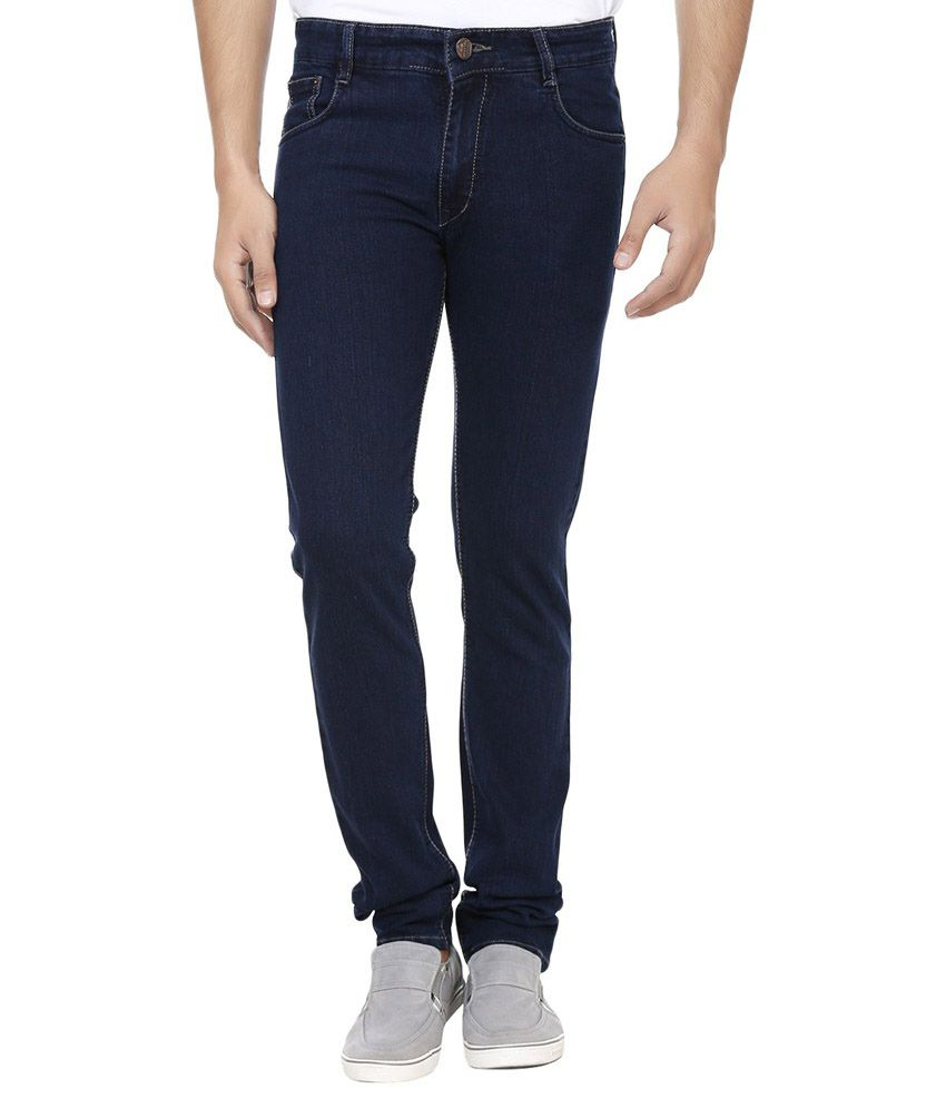 Ansh Fashion Wear Navy Slim Fit Solid Jeans
