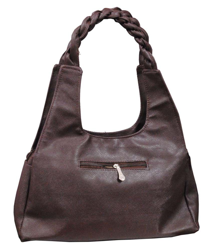 Blue Indians Brown P.U. Shoulder Bag