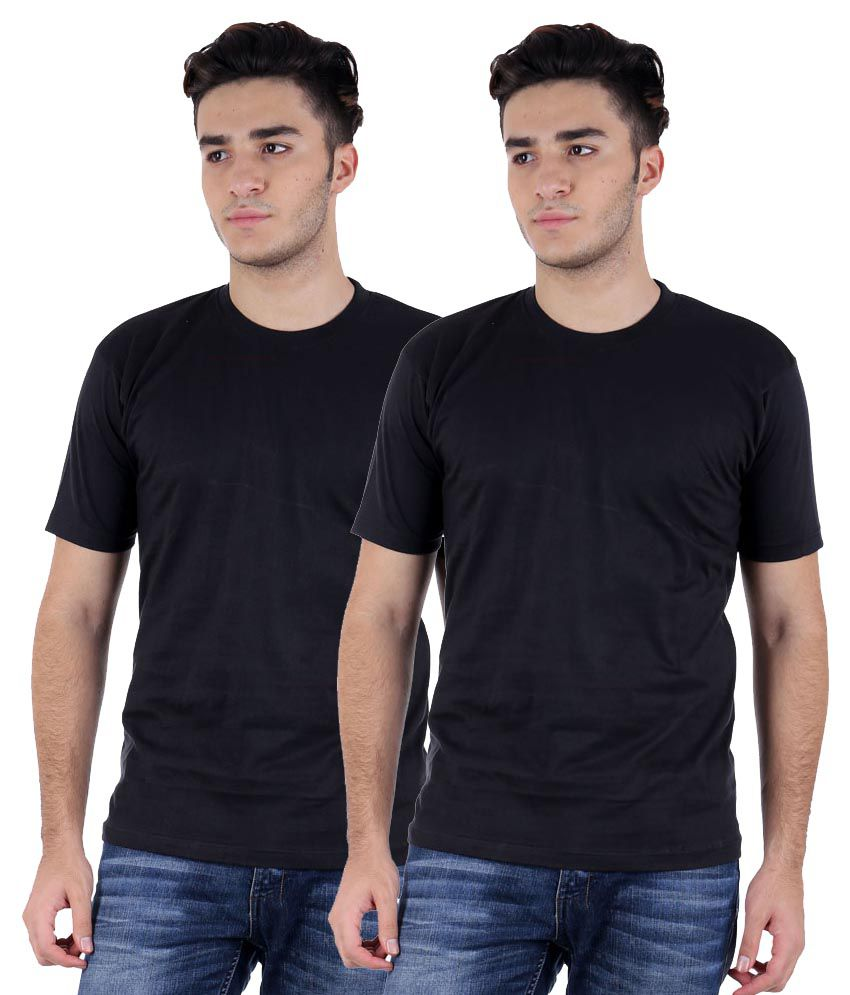 Candy House Black Round T Shirt Pack of 2