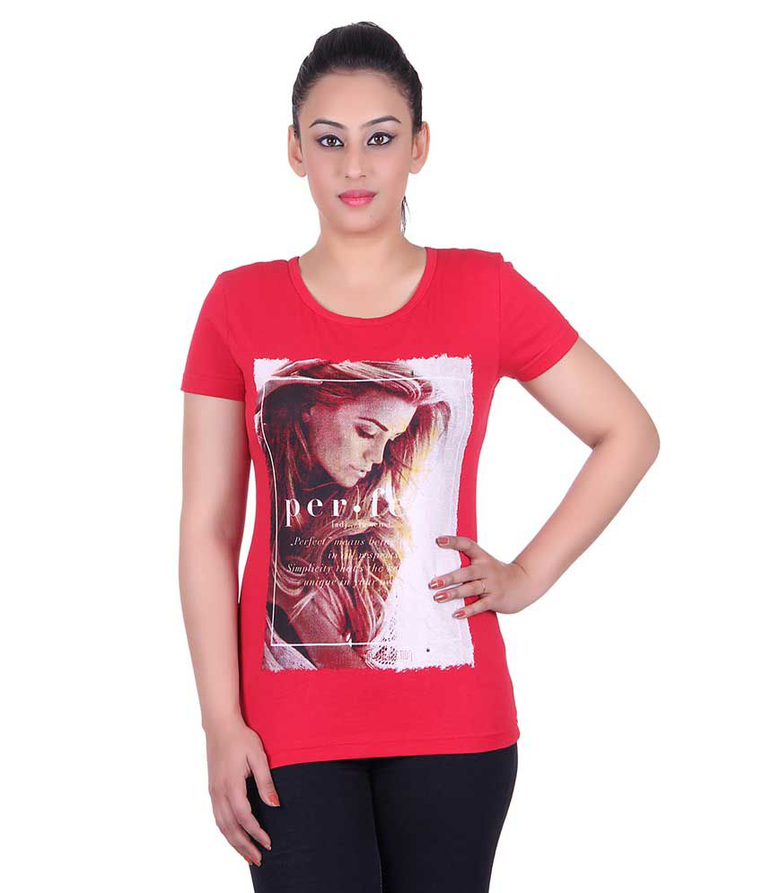 Kally Red Cotton Tees