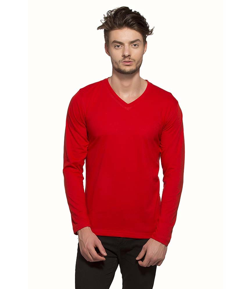 Alan Jones Clothing Red V-Neck T Shirt