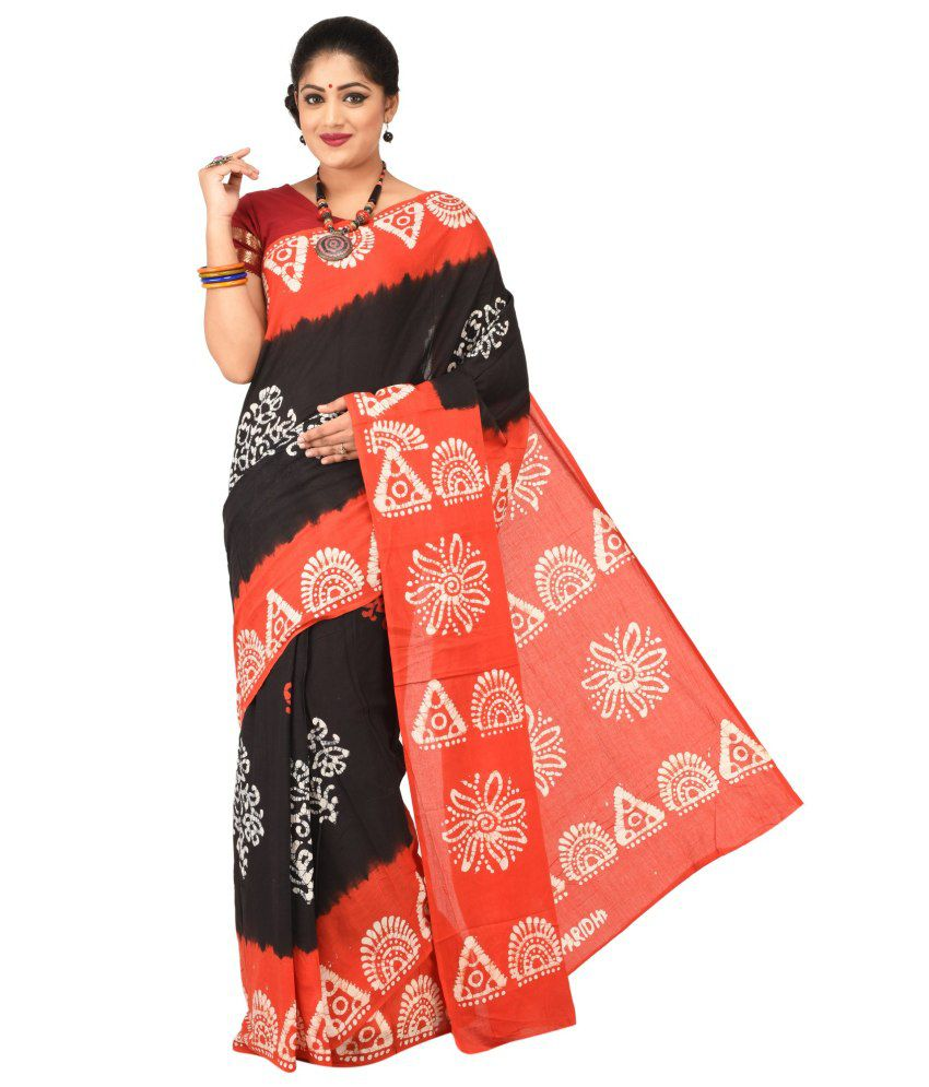 Paridhi Sarees Black Cotton Saree