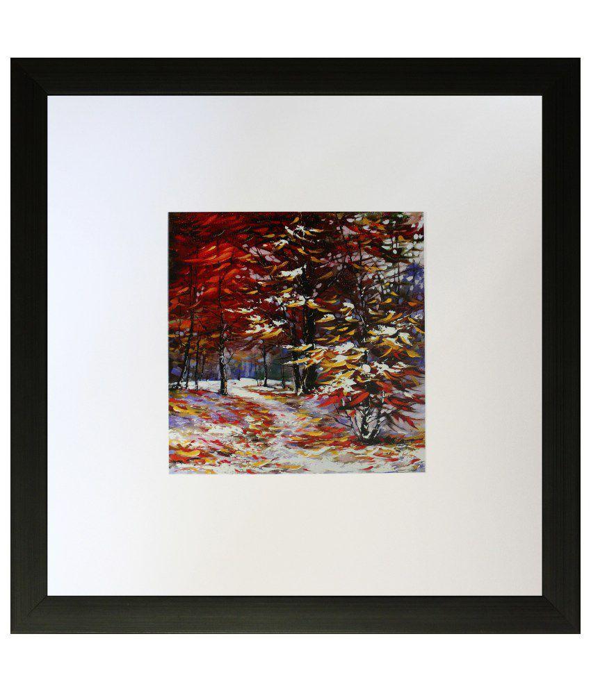 SAF Textured Wooden Art Print with Frame
