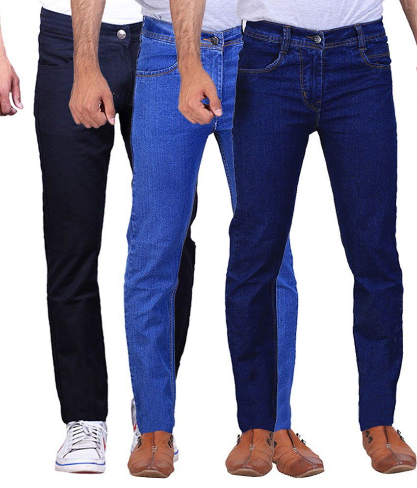Ilbies Multi Slim Fit Solid Jeans Pack of 3