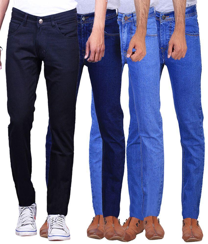 Ilbies Multi Slim Fit Solid Jeans Pack of 4