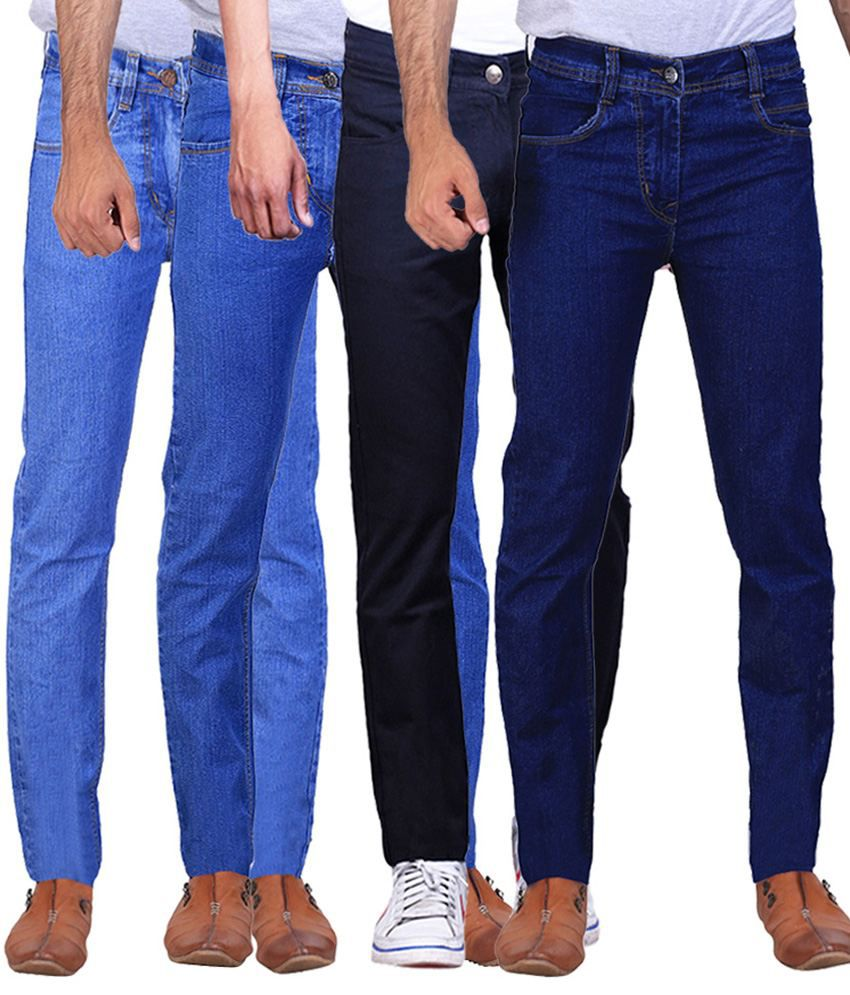 Ilbies Multi Slim Fit Solid Jeans Pack of 4