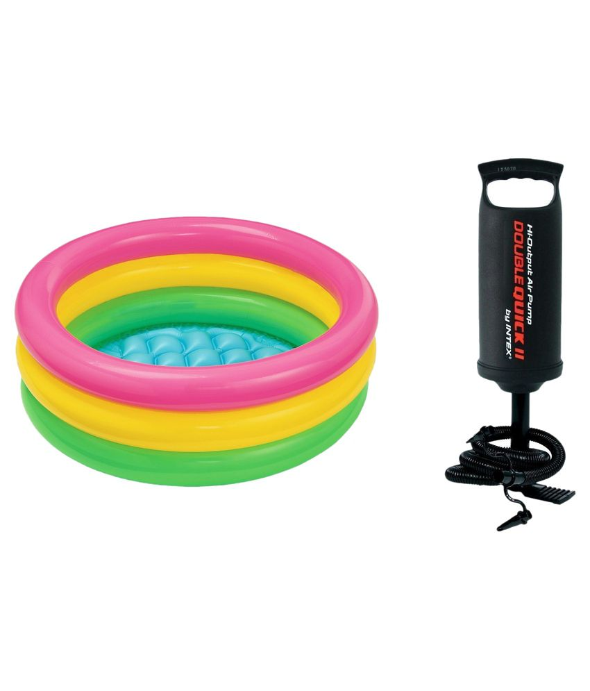 Intex Inflatable Multicolor Swimming Pool With Pump - 3 Feet