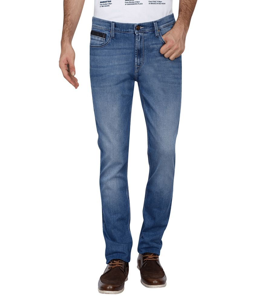 Lee Blue Skinny Fit Faded Jeans