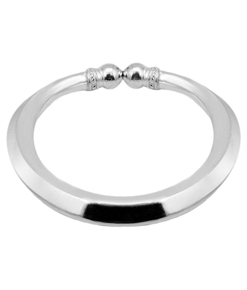 Tiekart Silver Stainless Steel Kada For Men