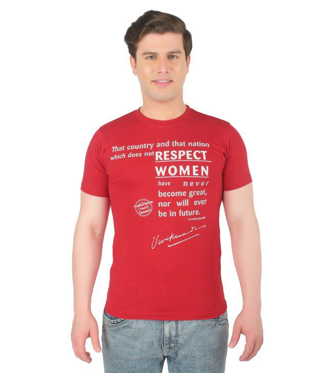 Vivekananda Youth Connect Red Cotton T-shirt