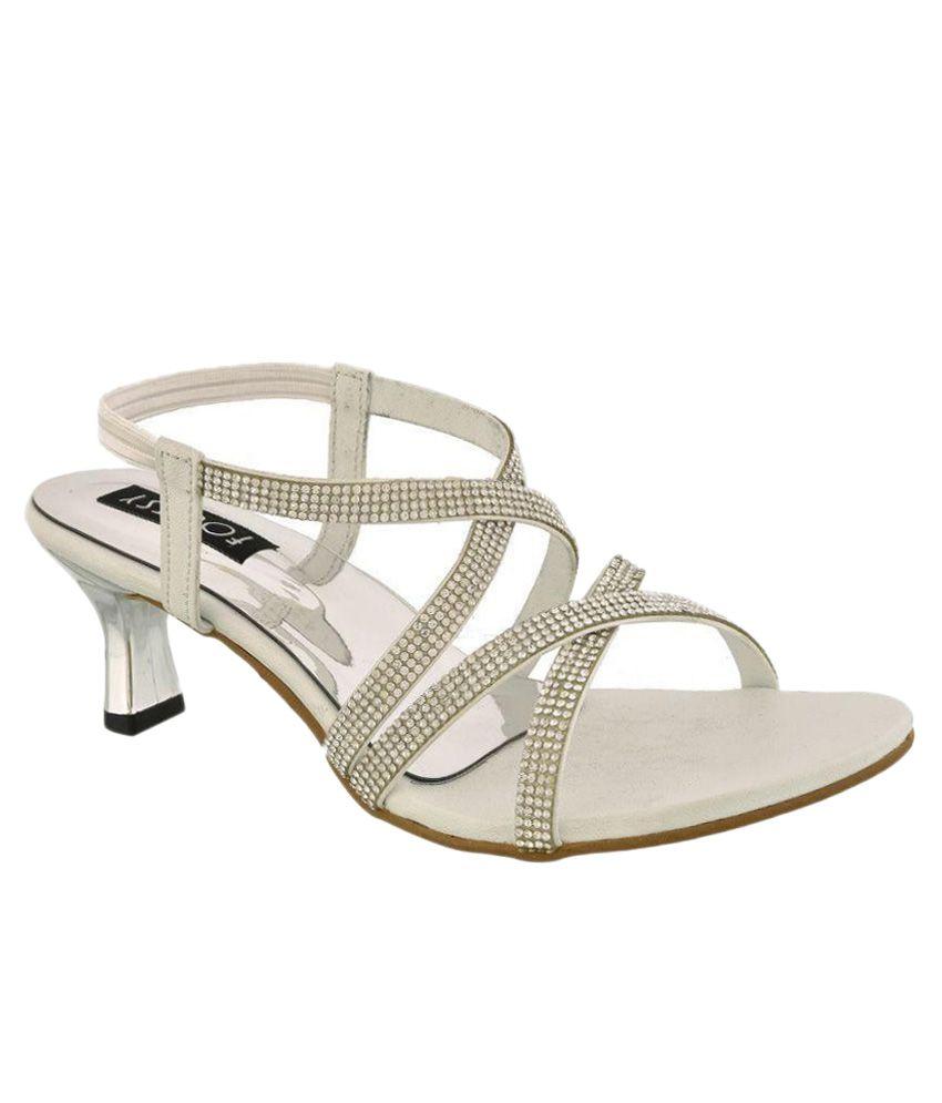 Footsy White Kitten Heels