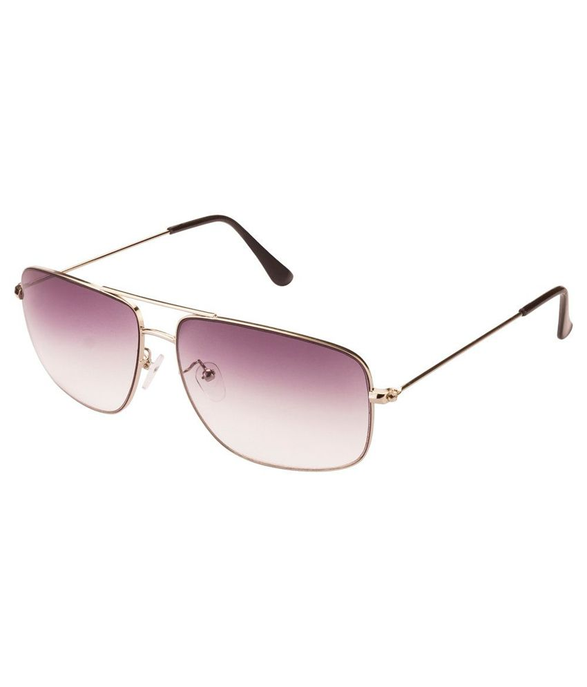 Mask Gray Rectangle Sunglasses