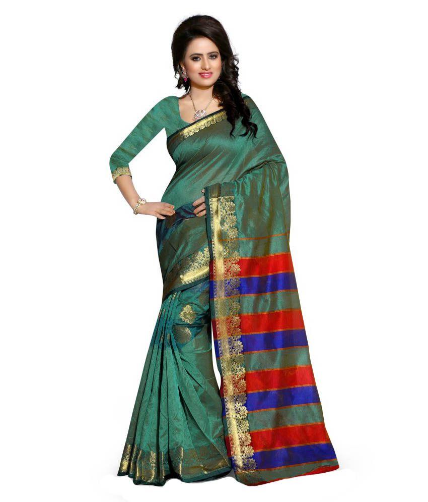 Pari Fashion Green Cotton Saree