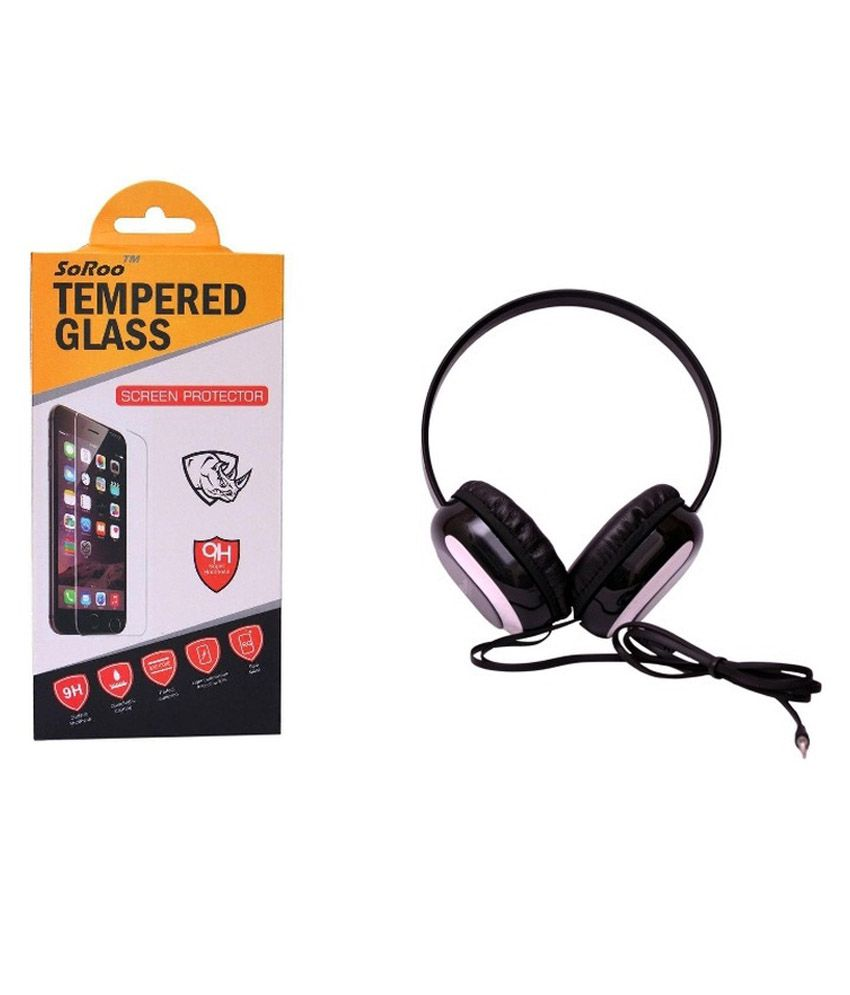 Infocus M350 Tempered Glass Screen Guard with Headphone by Soroo