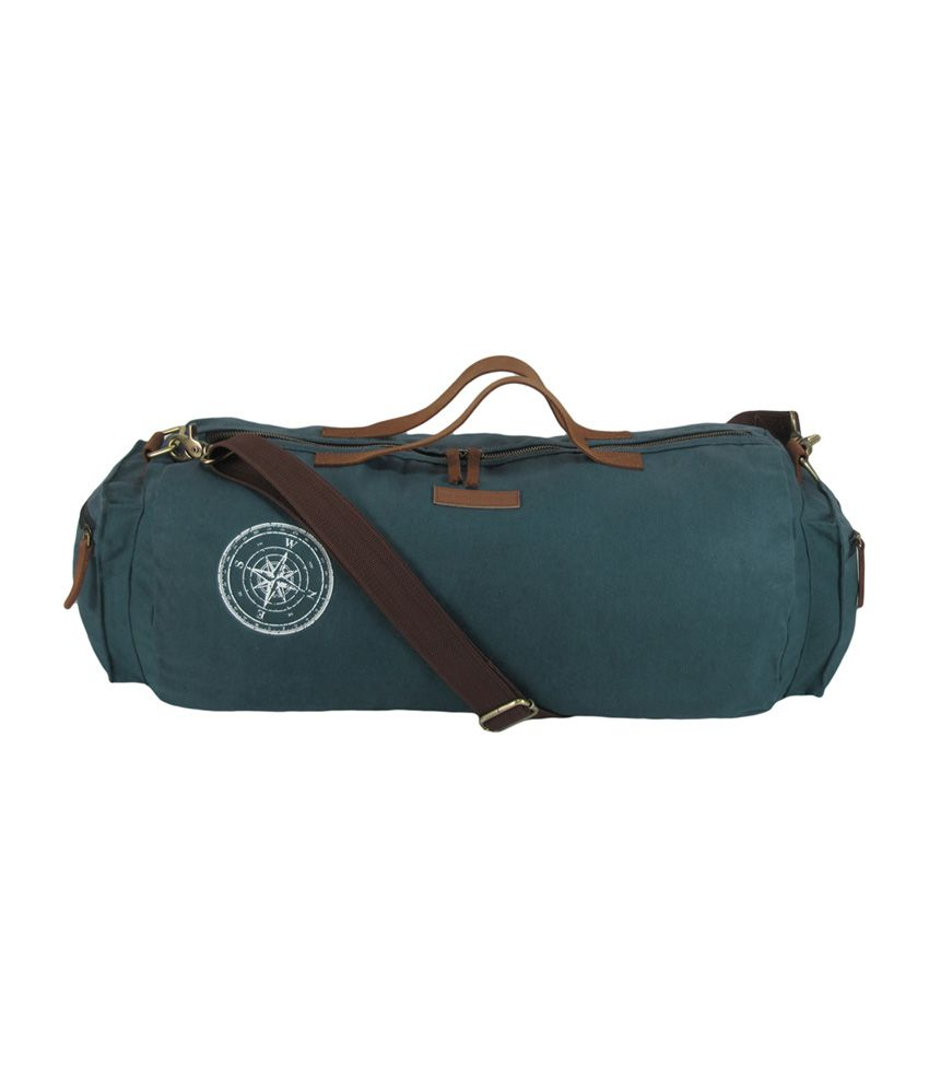 The House of Tara Waxed Canvas / (Combat Blue) Gym Bag