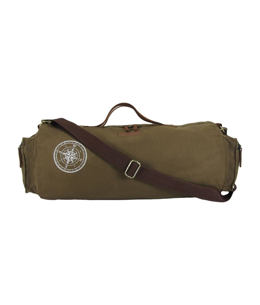 The House of Tara Waxed Canvas / (Khaki) Gym Bag