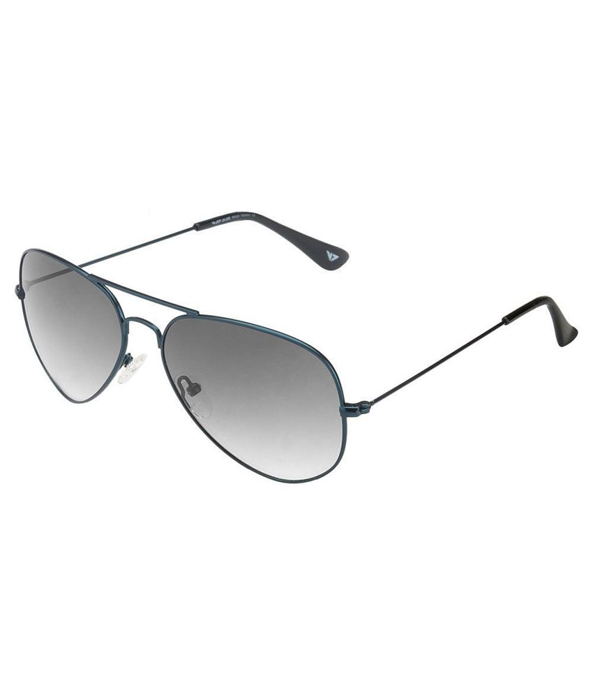 Vincent Chase Gray Aviator Sunglasses