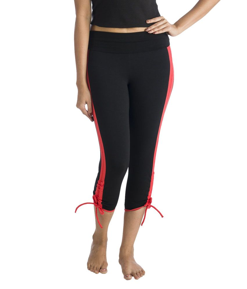 Nite Flite Workout Capri Leggings with Contrast Panel