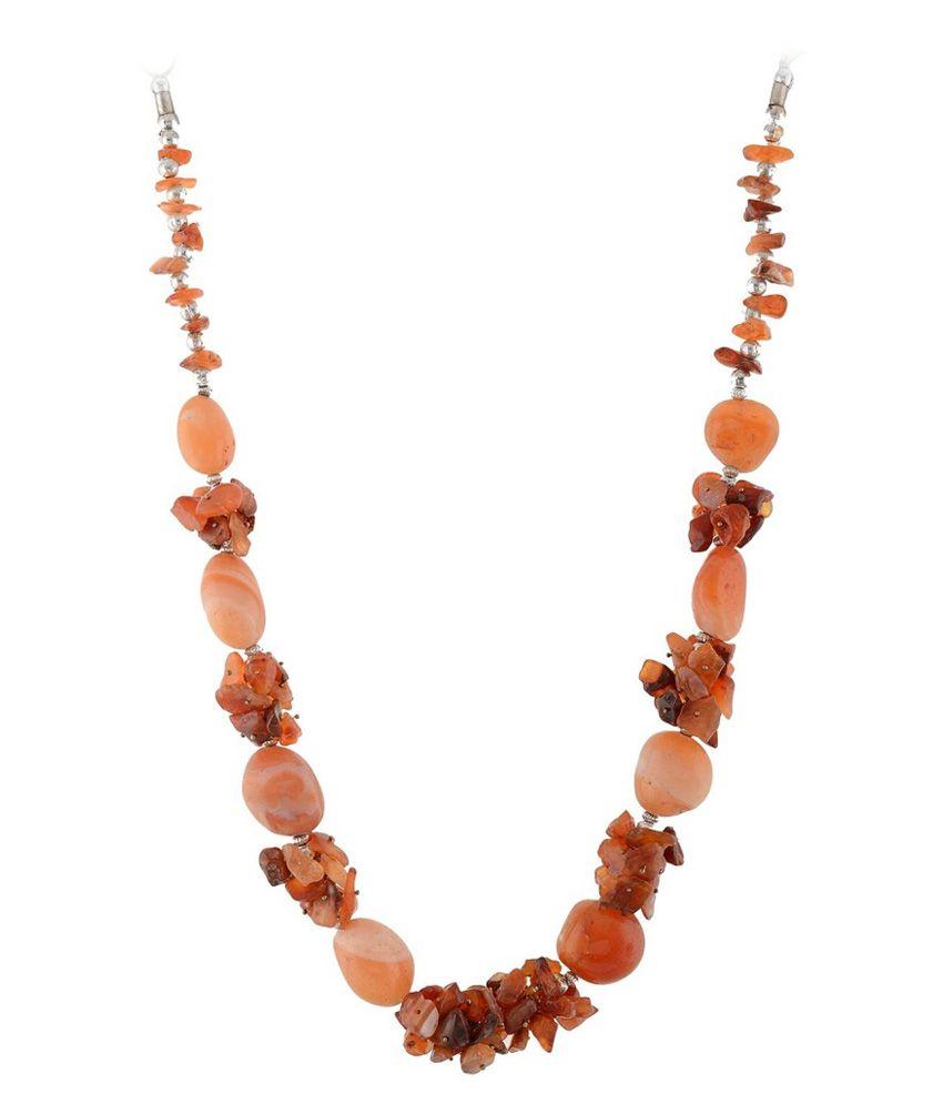Quail Orange Stone Necklace