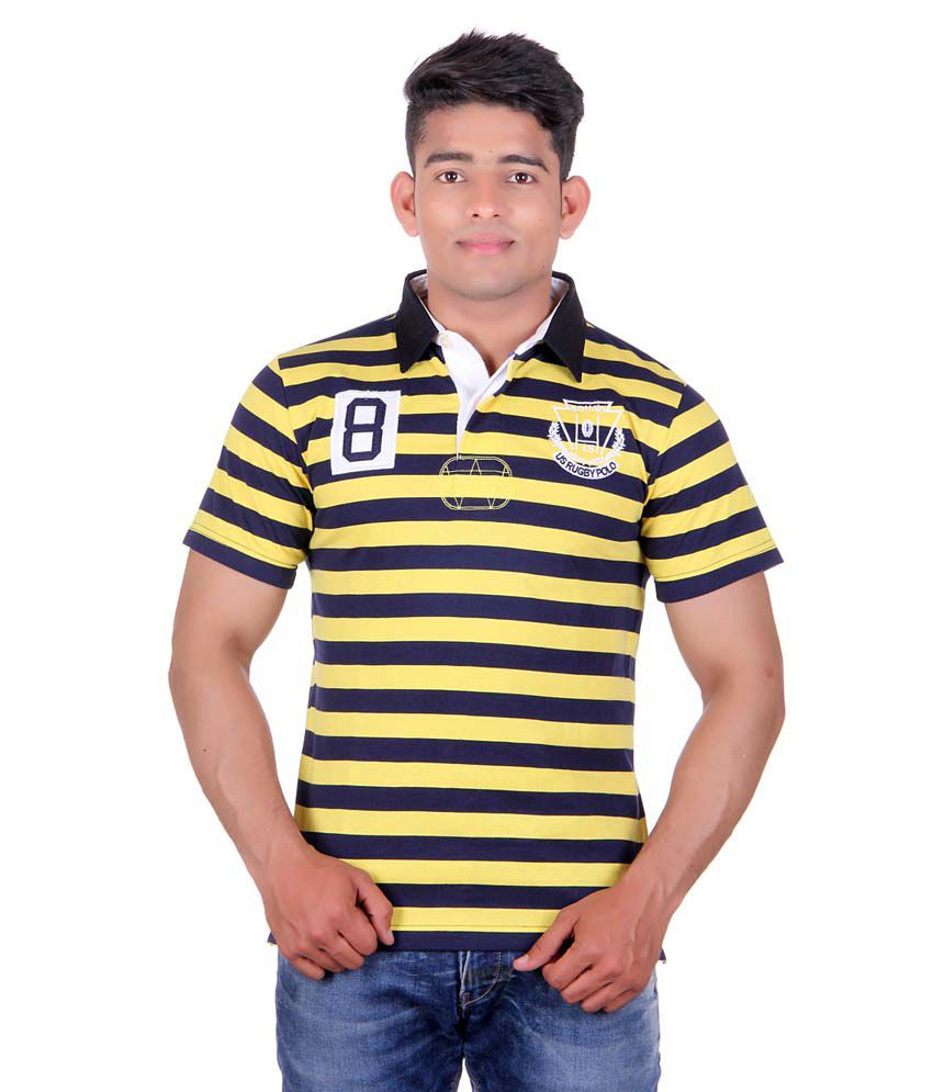 046c1dd4bc804c United Rugby Polo Yellow Polo T Shirts - Buy United Rugby Polo Yellow Polo T  Shirts Online at Low Price - Snapdeal.com